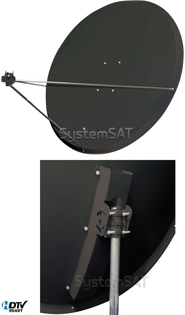 1.25 Meter Alloy Satellite Dish + Pole Mount Fittings
