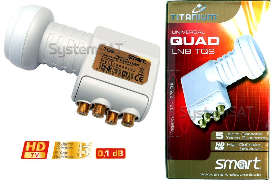 Smart 0.1dB Quad Titanium TQS Universal LNB