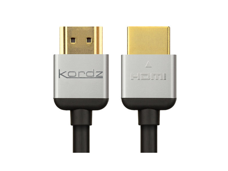 0.3m (1') KORDZ HDMI Lead BLACK