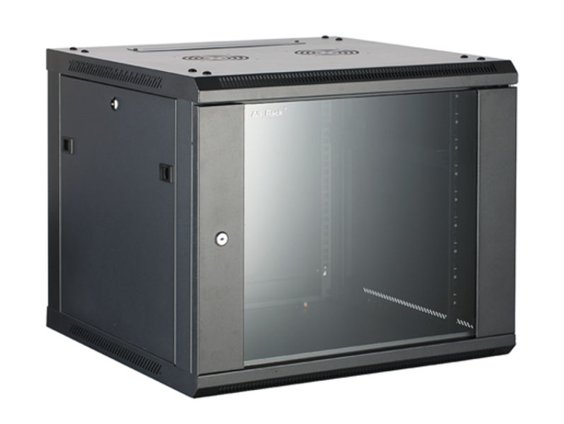 ALL-RACK Wall Cabinet 12U Black HINGED