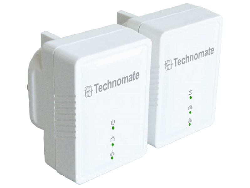 TECHNOMATE 600Mbps Homeplug Twin Pack