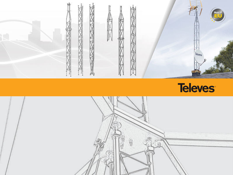 TELEVES 360 TOWER Upper Section Galvanised