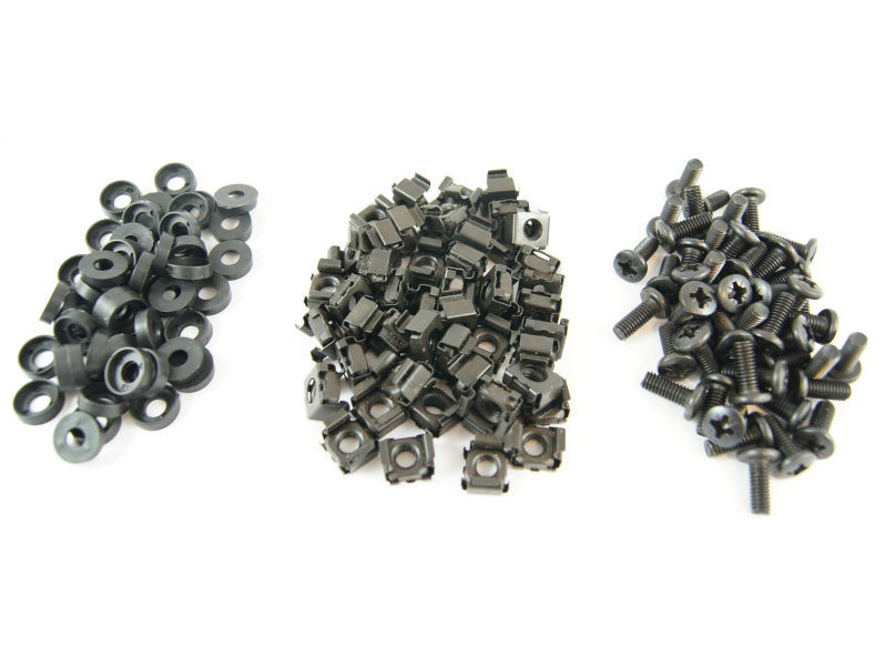 (50) ALL-RACK Nuts/Bolts/Washers BLACK
