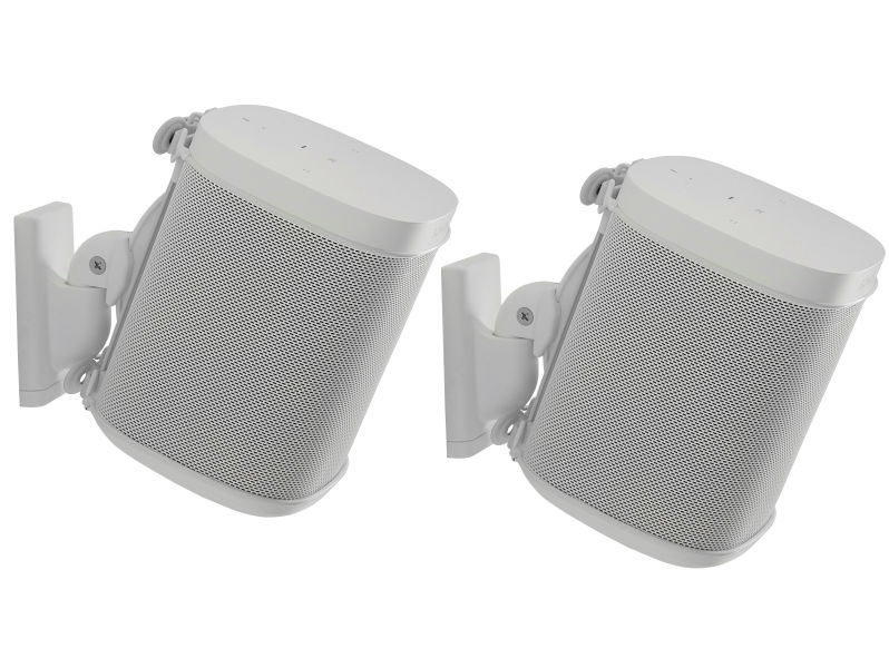 (2) SANUS Wall Brackets for SONOS® White
