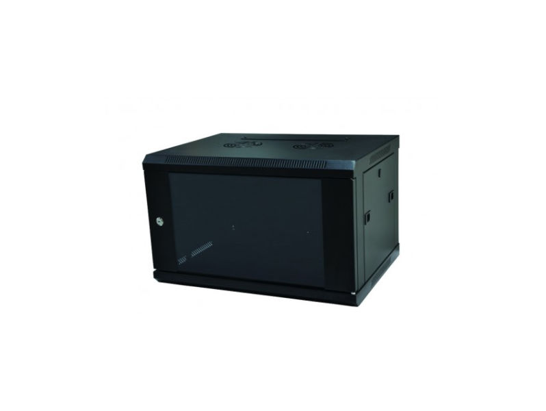 ALL-RACK Wall Cabinet 4U Black SHALLOW