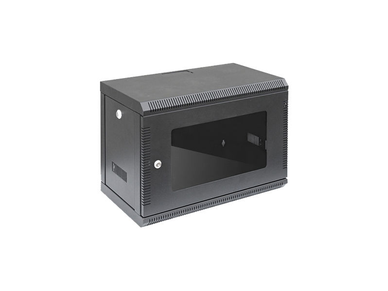 ALL-RACK Wall Cabinet 6U Black SHALLOW