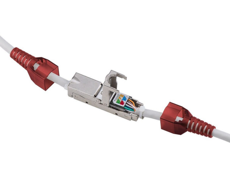 (1) TOOLLESS CAT6 Shielded Inline JOINER