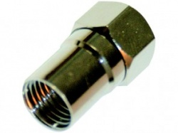 BUDGET Crimp F Connector 1.25mm for 125 Type Cables
