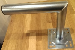450mm Wall Mount Bracket Galvanised Steel 45cm