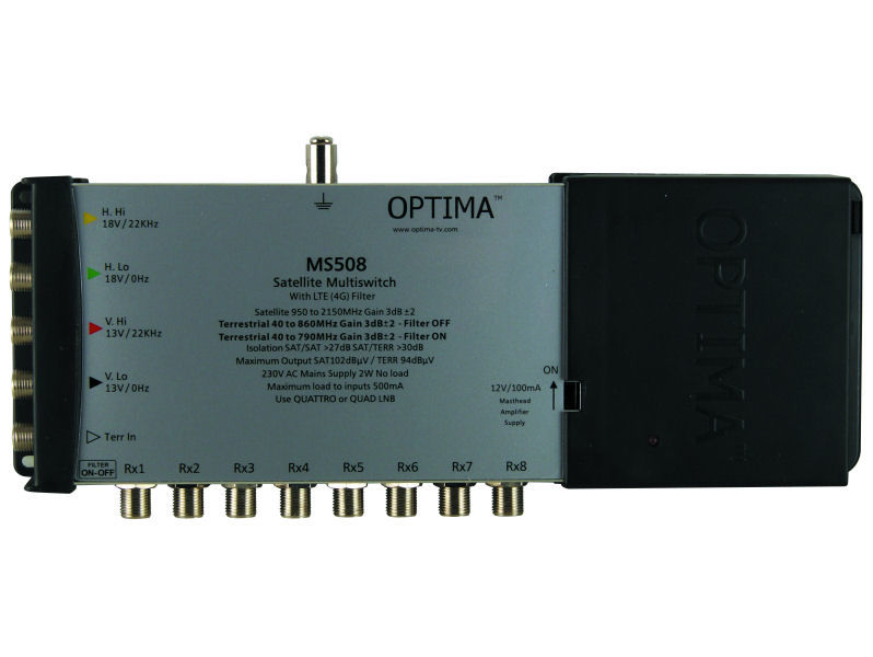 OPTIMA MS508LTE Multiswitch 5 In 8 Out