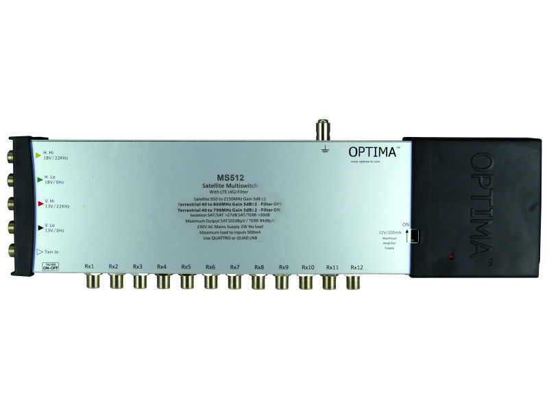 OPTIMA MS512LTE Multiswitch 5 In 12 Out