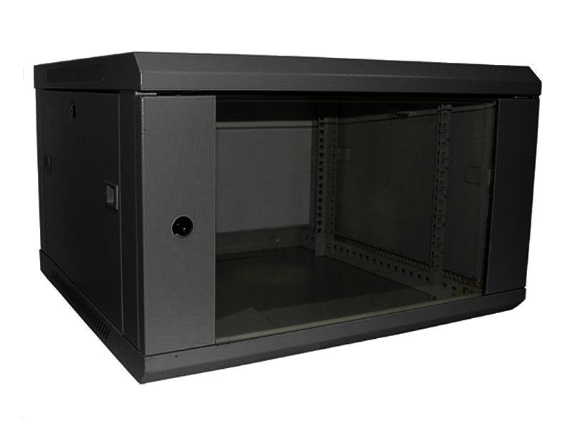 ALL-RACK Wall Cabinet 6U Textured Black
