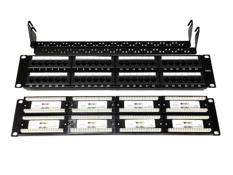 48 Port CAT6 Patch Panel c/w Cable Manager