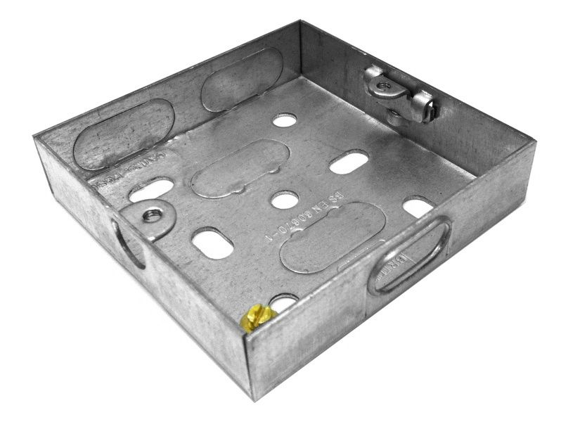 16mm Deep 1 Gang Steel Knock Out Box