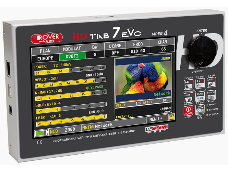 HIRE ROVER 7'' Touch HD Tablet Analyser