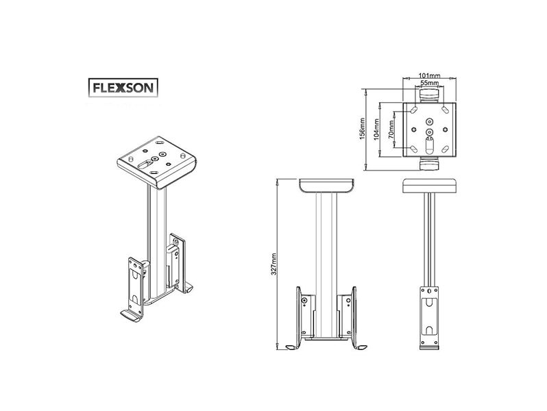 (TWIN) FLEXSON Ceiling Mount PLAY:1 White
