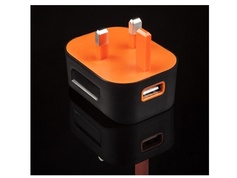 2.1A Single USB Rubberised MAINS Charger