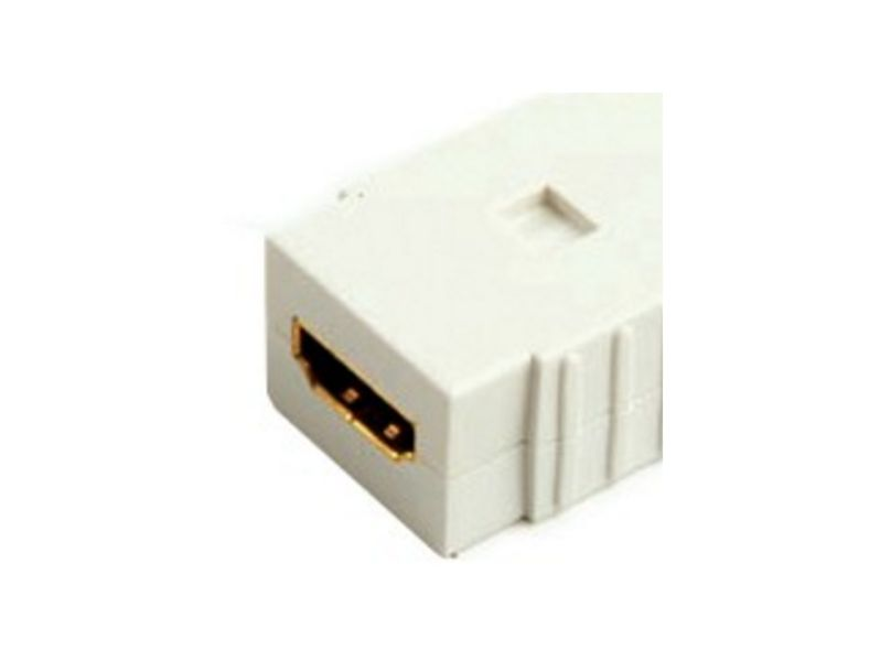 SystemSAT HDMI Straight Coupler WHITE