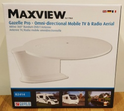 Maxview B2414 Gazelle Pro Omni-directional Mobile Tv And Radio Aerial-White