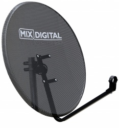 60cm Mix Digital Mesh Satellite Dish & Pole Mount Fittings 60