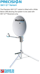 Maxview 55cm Precision Portable Satellite System SKY Q™ ONLY Variant