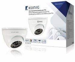 Konig Security Dome Camera 700 TVL White with 18m Cable