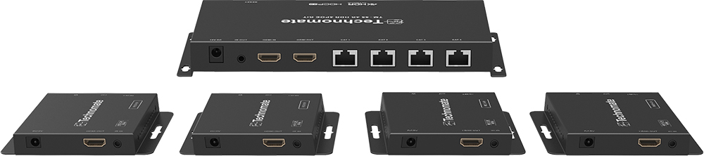Technomate TM-55 4K HDR HDMI PoE Splitter Kit