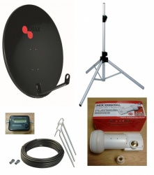 80cm Portable Hi-Quality Satellite Dish Kit for Camping & Caravan