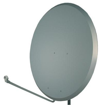 1.2m Steel Charcoal Satellite Dish with Pole/Bracket Fixing Kit
