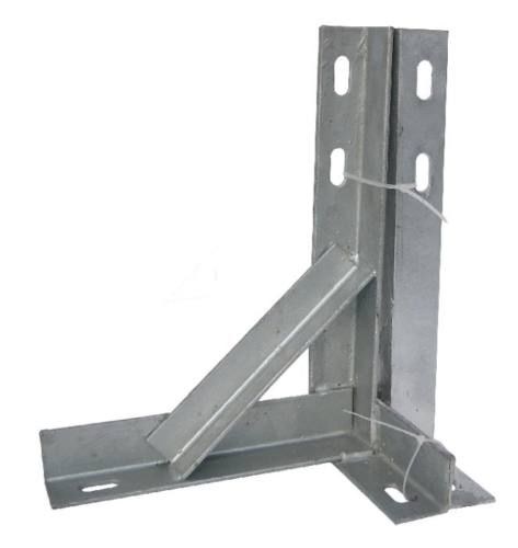 24'' T&K Wall Bracket Painted Steel Heavy Duty Mount