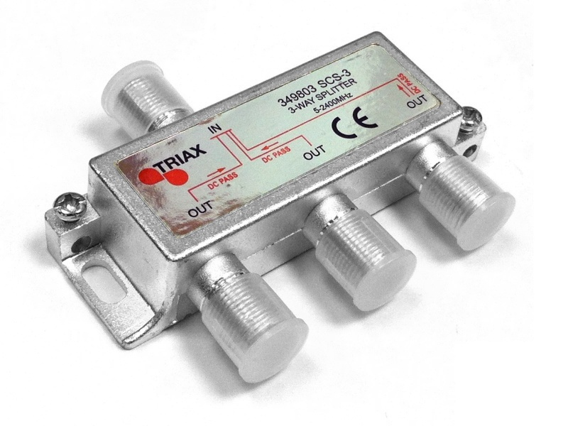 Triax 3 Way TV Aerial Splitter 5-2400 MHz - 349803