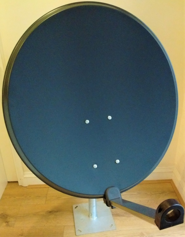 80cm Mix Digital Camping Satellite Dish with Twist Lock Arm & LNB