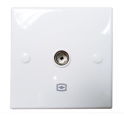 High Quality Single IEC COAX aerial wall socket (Isolated) - AE0064