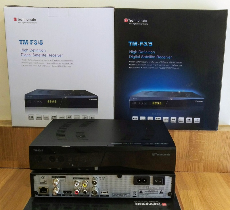 Technomate TM-F3/5 CI LAN HD Multimedia Satellite USB PVR 1080P