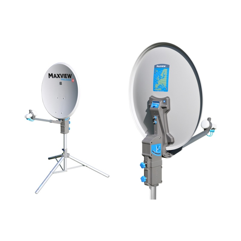 Maxview 65cm Precision ID Portable Satellite System with Twin LNB