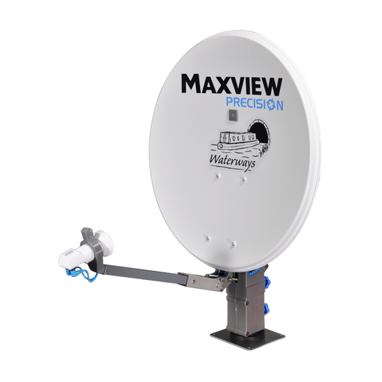 Maxview Precision 55cm Waterways Satellite System with Twin LNB