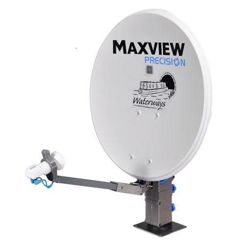 Maxview Precision Waterways Portable Satellite Dish with LNB for Sky  Freesat HD SD