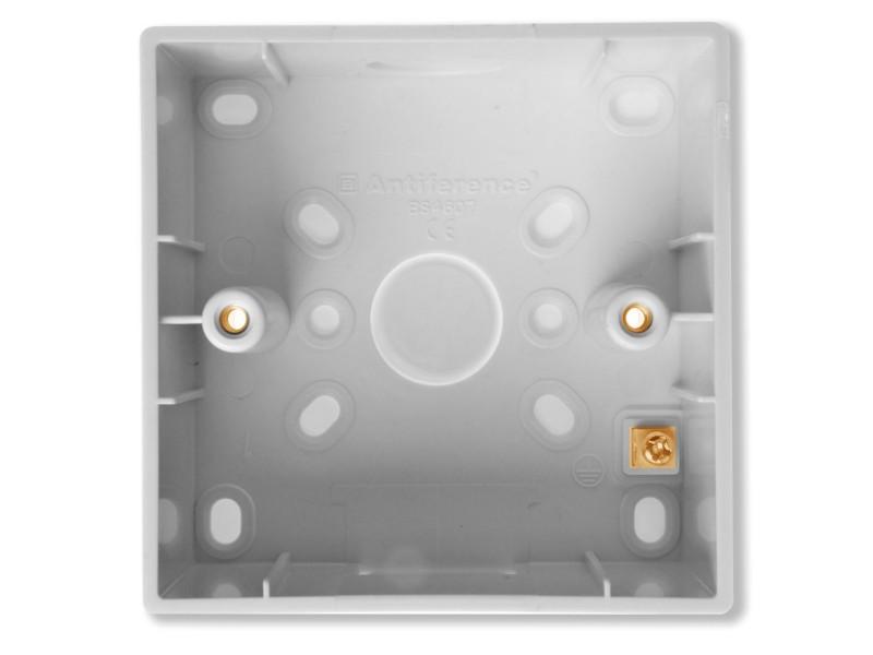 Antiference 45mm Deep 1 Gang Plastic Pattress Box
