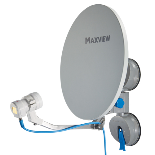 Maxview MXL026 Remora 40 Suction Mounted Portable Solid Satellite TV Dish Kit with Twin LNB
