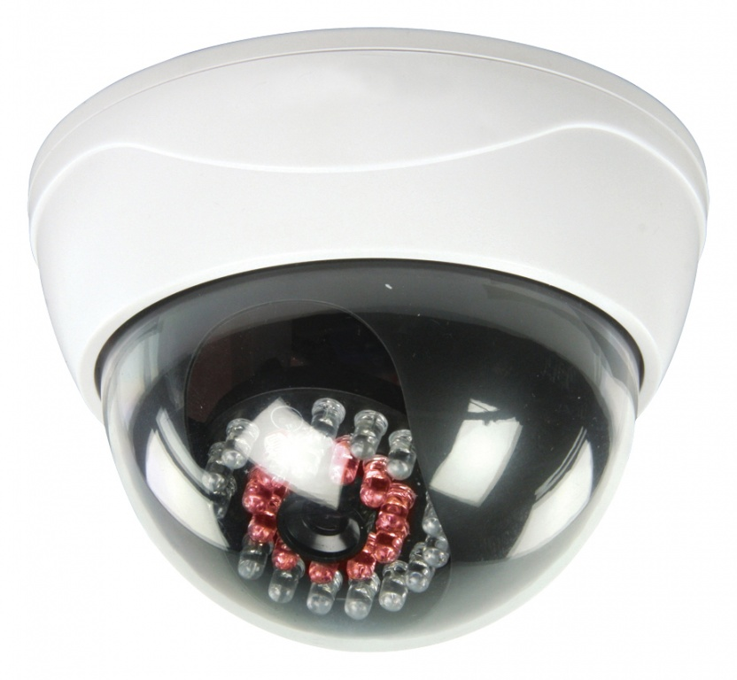 Konig Dummy CCTV Dome Camera with IR LEDs that light up in dark