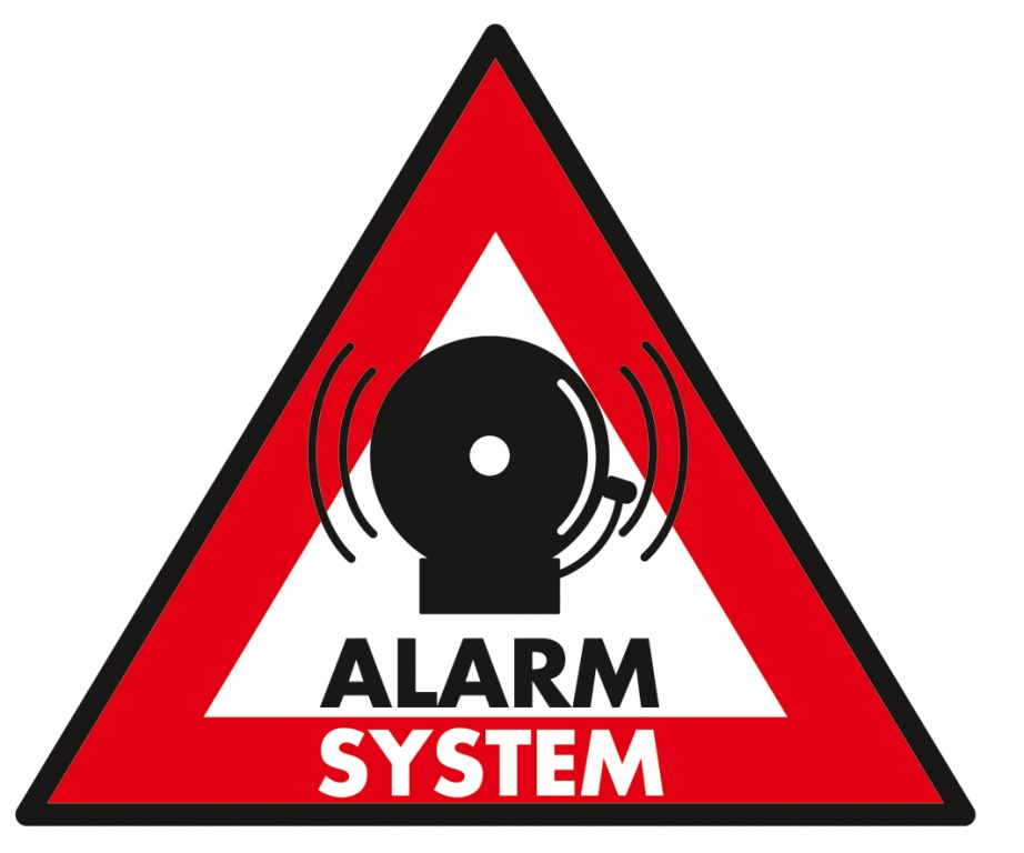 5 x Sticker alarm system 123 x 148 mm - Konig