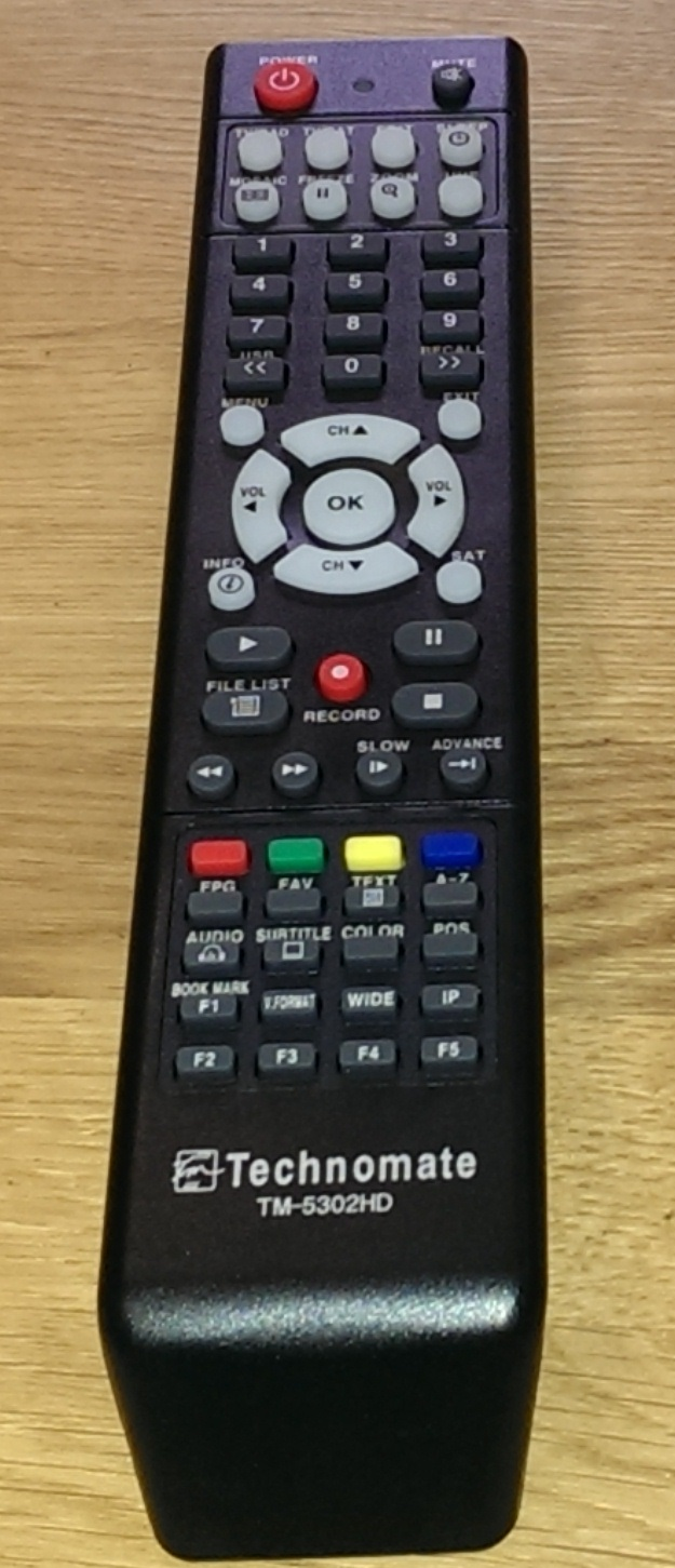 Technomate TM 5302 HD Genuine Replacement Remote Control