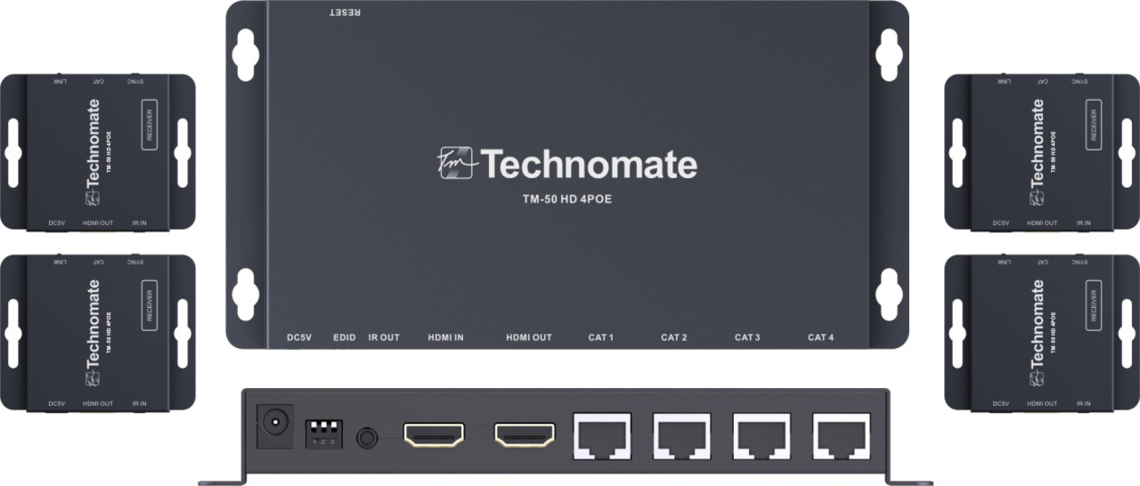Technomate TM-50 HD 4POE Kit HDMI PoE Splitter Kit
