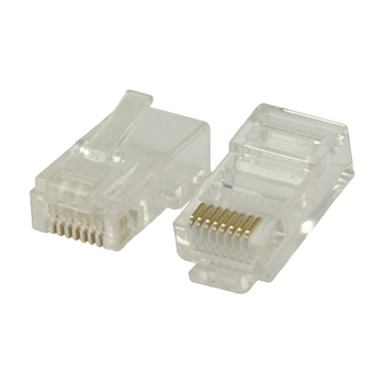 RJ45 Solid UTP CAT6 Male PVC Connectors Transparent - Pack of 10