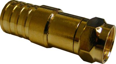 Crimp-on F Connector Gold for WF125 Type Cable