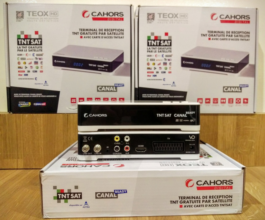 Cahors Teox HD TNT Sat Receiver & Viewing Card