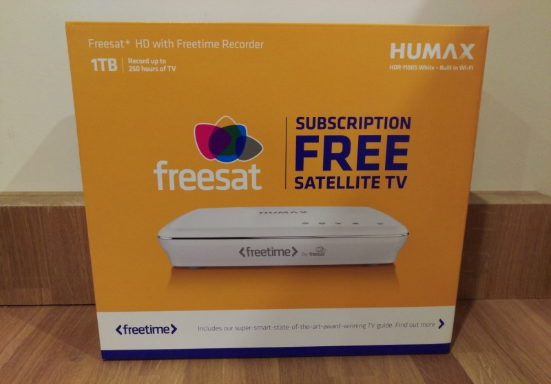 Humax HDR-1100S Smart 1TB Freesat+ with Freetime HD Digital TV Recorder - White