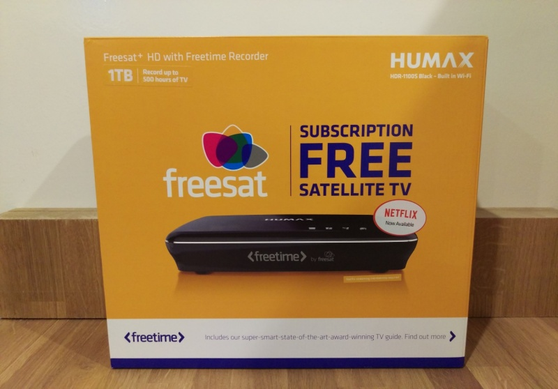 Humax HDR-1100S Smart 1TB Freesat+ with Freetime HD Digital TV Recorder - Black