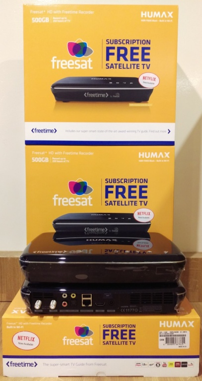 Humax HDR-1100S Smart 500GB Freesat+ with Freetime HD Digital TV Recorder - Black