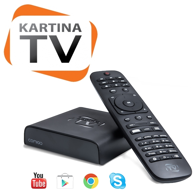 Kartina TV Russian IPTV Quattro HD Set Top Box and Subscription